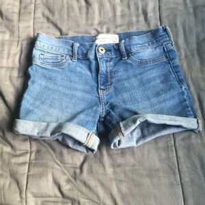 Abercrombie Light Wash Jean Shorts